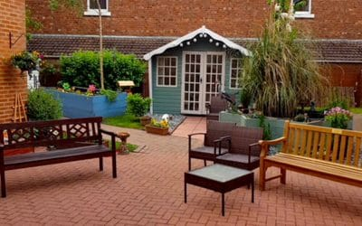 NEW SENSORY GARDEN FOR CARE HOME